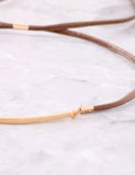 Crystal Tipped Choker Anarchy Street Brown - Details