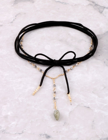 Stone Wrap Choker Anarchy Street Black