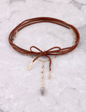 Stone Wrap Choker Anarchy Street Brown