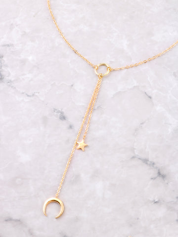 Star Horn Loop Necklace Anarchy Street Gold