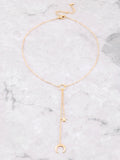 Star Horn Loop Necklace Anarchy Street Gold - Details 1