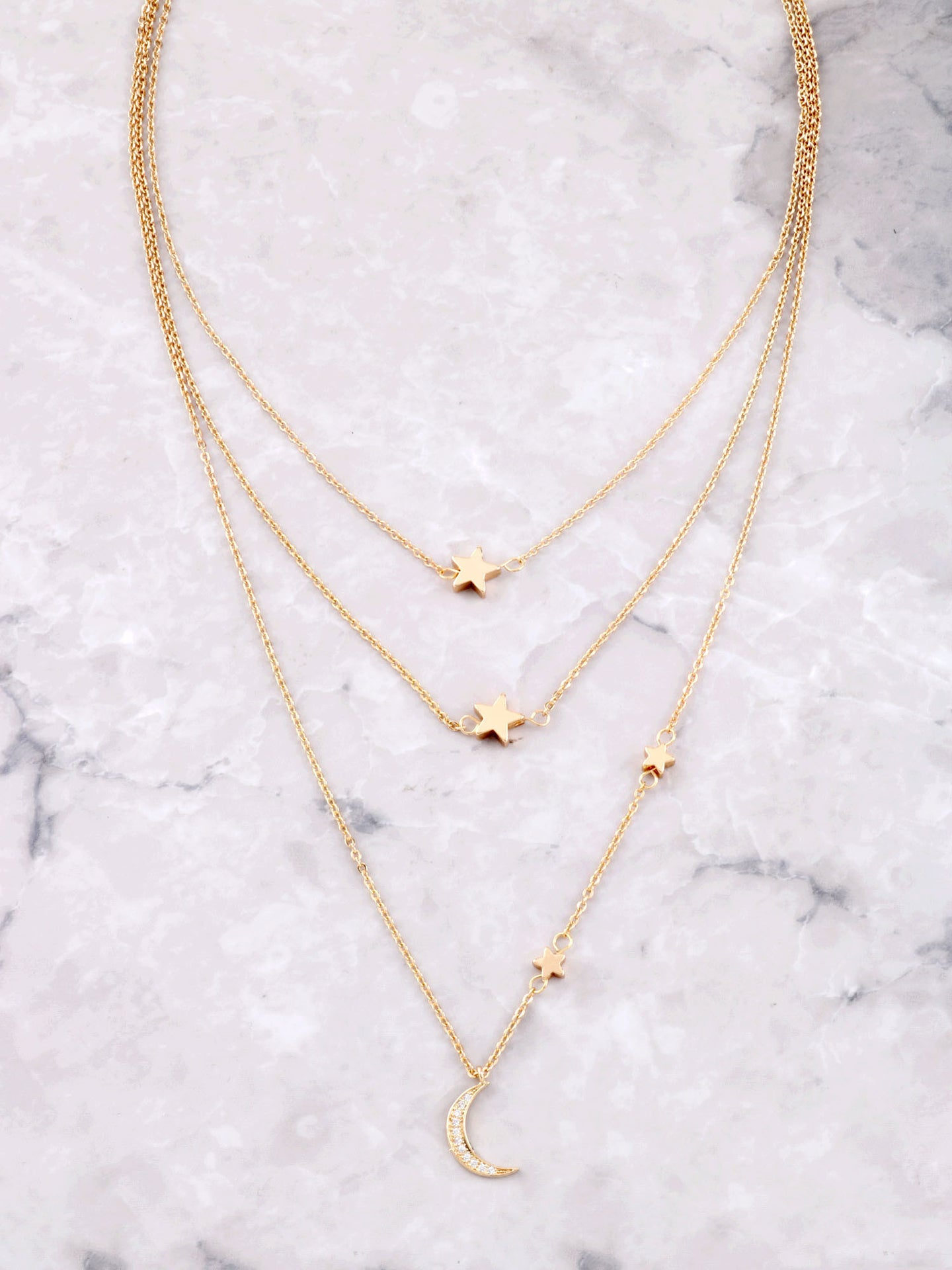 Starry Nights Layered Necklace Anarchy Street Gold