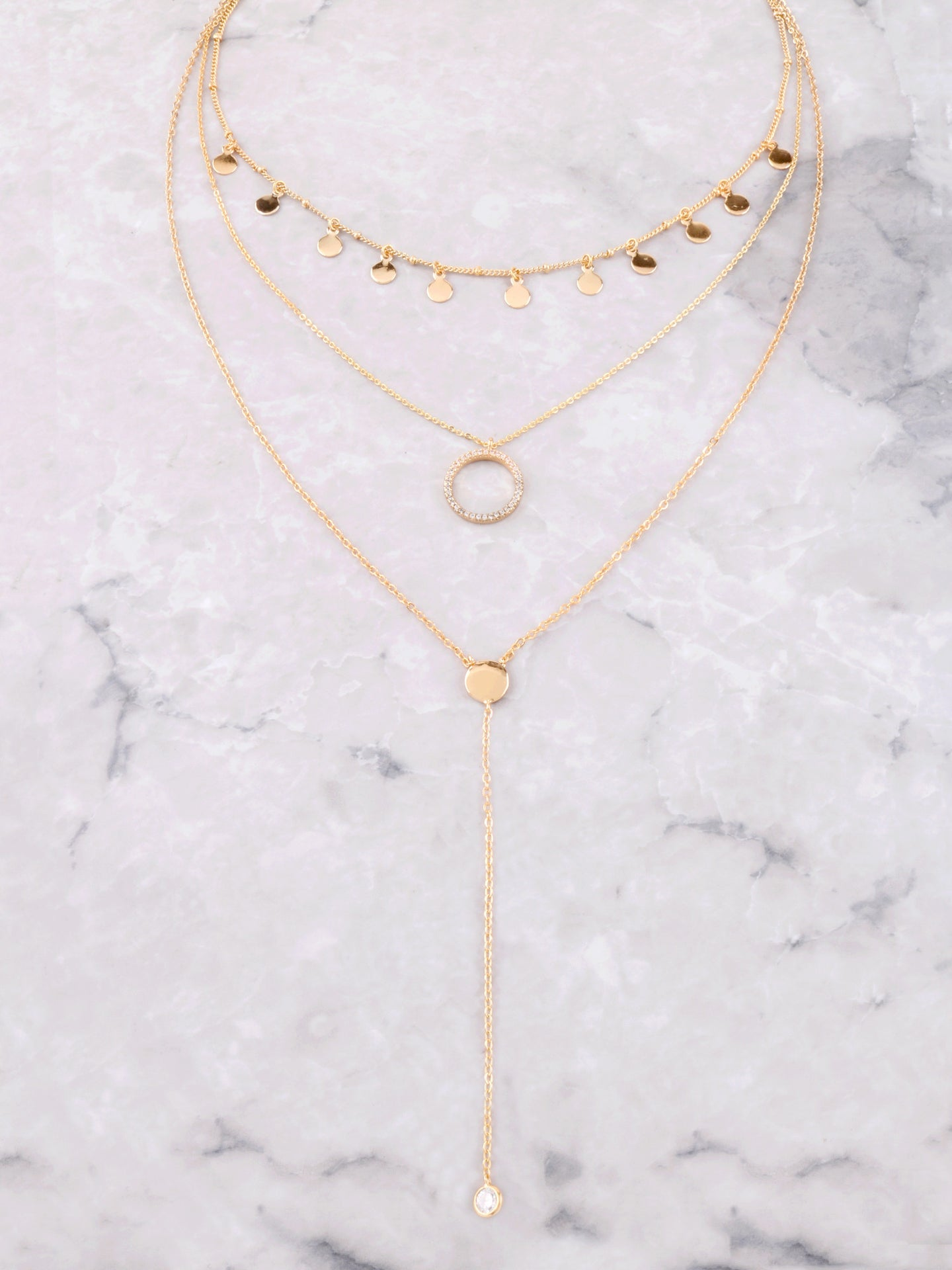 Disk Layered Necklace Anarchy Street Gold