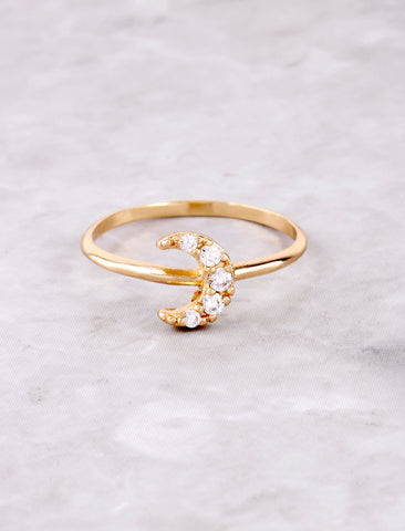 Pave Crescent Ring Anarchy Street Gold