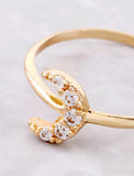 Pave Crescent Ring Anarchy Street Gold - Details
