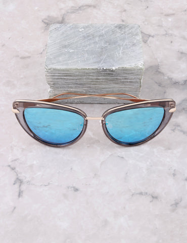 Road Trip Cat Eye Sunglasses Anarchy Street Gray_Blue