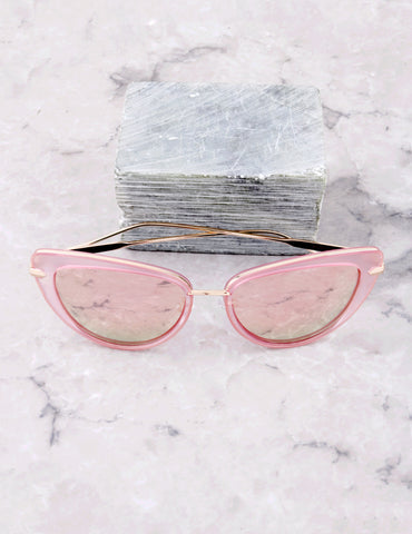 Road Trip Cat Eye Sunglasses Anarchy Street Pink_Rose