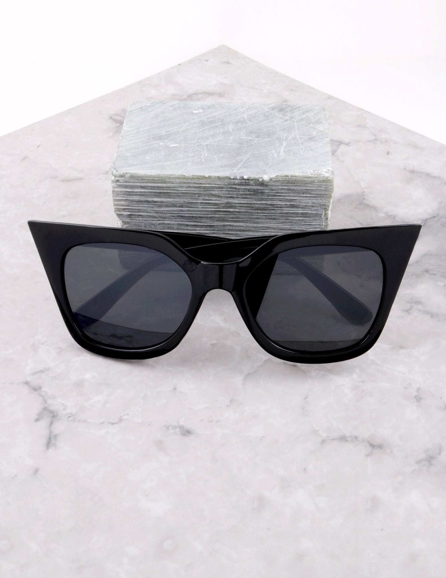 Poolside Cat Eye Sunglasses Anarchy Street Black_Black