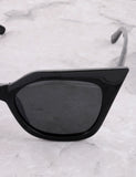 Poolside Cat Eye Sunglasses Anarchy Street Black_Black - Details