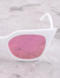 Poolside Cat Eye Sunglasses Anarchy Street White_Pink - Details