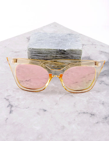 Poolside Cat Eye Sunglasses Anarchy Street Yellow_Rosegold