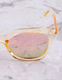 Poolside Cat Eye Sunglasses Anarchy Street Yellow_Rosegold - Details