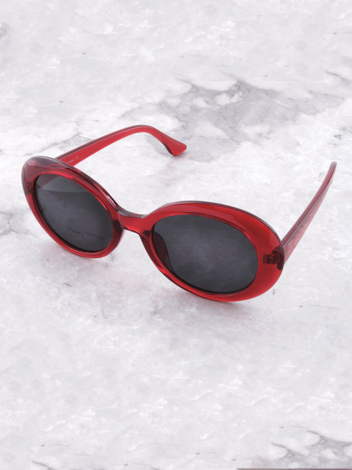 Vintage Oval Sunglasses Anarchy Street Red