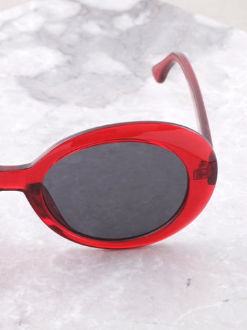 Vintage Oval Sunglasses Anarchy Street Red - Details