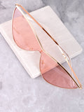 Runaway Cat Eye Sunglasses Anarchy Street Gold-Pink