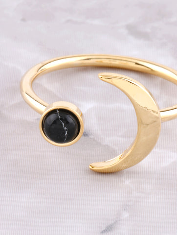 Marble Crescent Ring Anarchy Street Black - Details