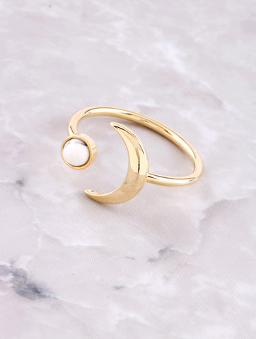 Marble Crescent Ring Anarchy Street White