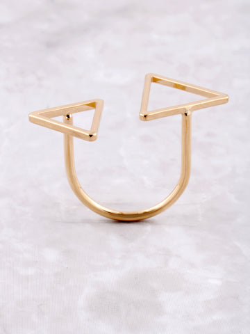 Double Triangle Ring Anarchy Street Gold