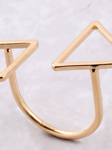 Double Triangle Ring Anarchy Street Gold - Details