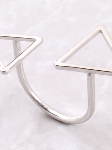 Double Triangle Ring Anarchy Street Silver - Details