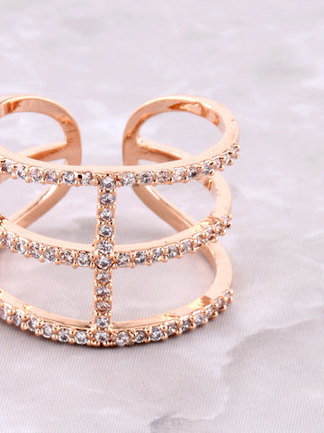 Triple Wrap Pave Ring Anarchy Street Rosegold - Details