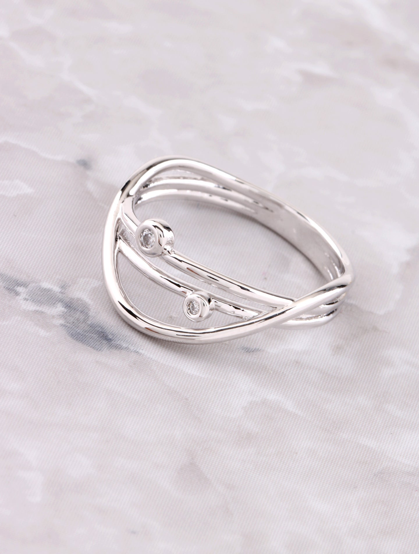 Orbit Ring Anarchy Street Silver