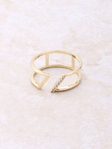 Slanted Ring Anarchy Street Gold