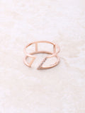 Slanted Ring Anarchy Street Rosegold