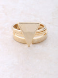 Pyramid Midi Ring Set Anarchy Street Gold - Details