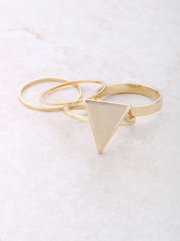 Pyramid Midi Ring Set Anarchy Street Gold - 1 Details