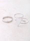 Pyramid Midi Ring Set Anarchy Street Silver - 1 Details