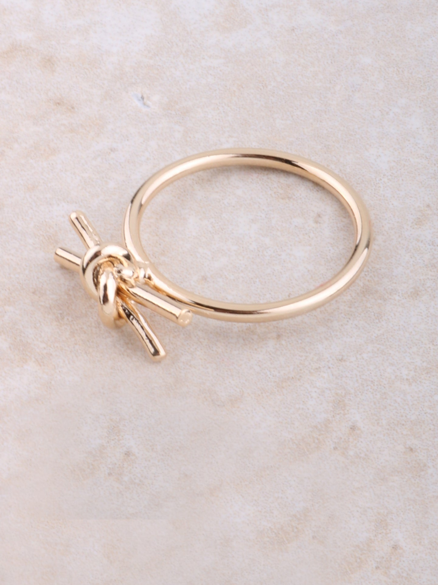 Tied Bar Ring Anarchy Street Gold