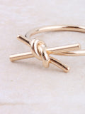 Tied Bar Ring Anarchy Street Gold - Details