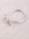 Tied Bar Ring Anarchy Street Silver