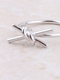 Tied Bar Ring Anarchy Street Silver - Details