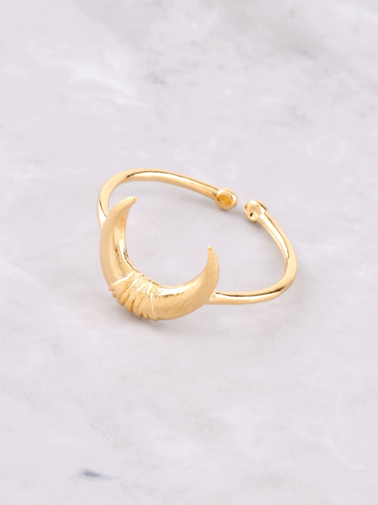 Crescent Horn Ring Anarchy Street Gold