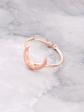 Crescent Horn Ring Anarchy Street Rosegold