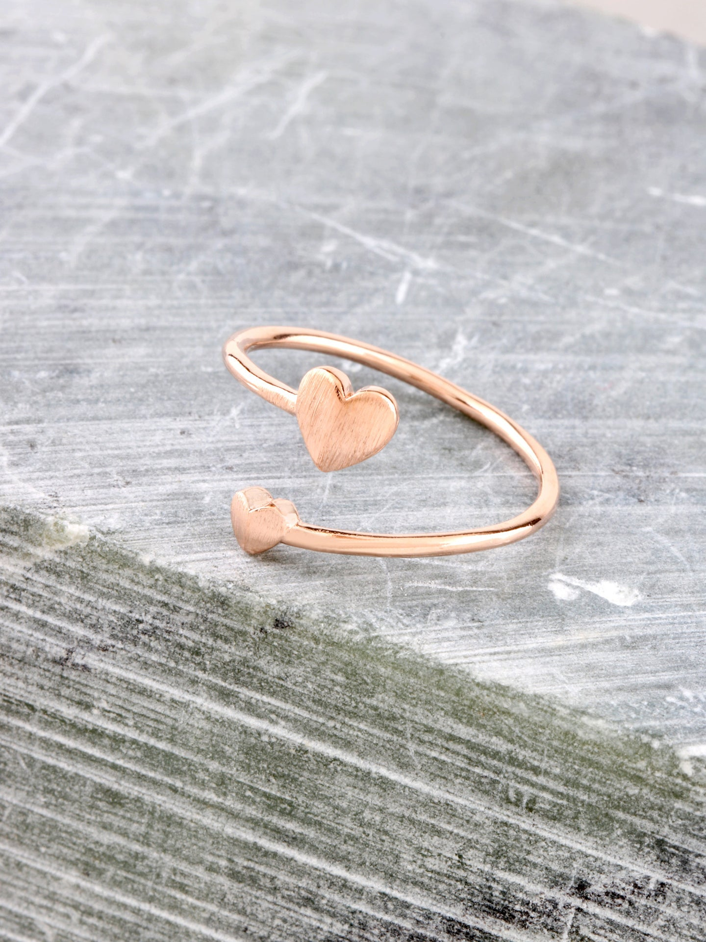 Heart To Heart Ring Anarchy Street Rosegold