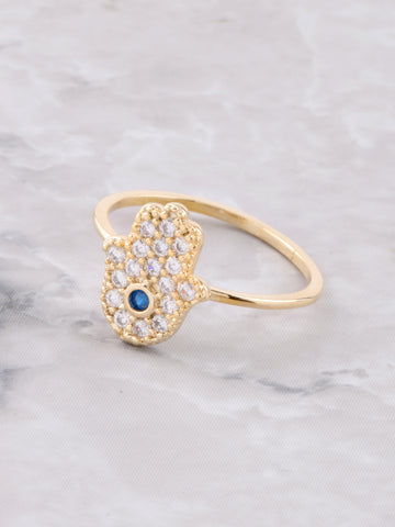 Hand Of Hamsa Ring Anarchy Street Gold - Details