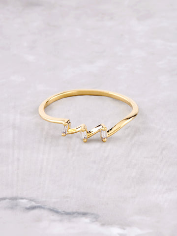 Angled Ring Anarchy Street Gold