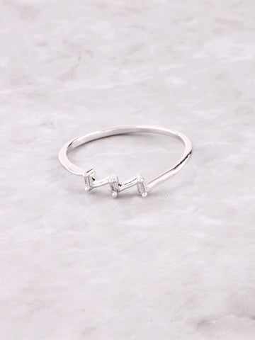 Angled Ring Anarchy Street Silver