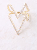 Zig Zap Pave Ring Anarchy Street Gold