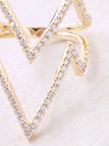Zig Zap Pave Ring Anarchy Street Gold - Details
