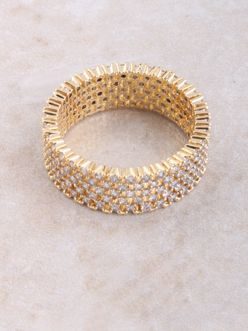 Layered Pave Ring Anarchy Street Gold