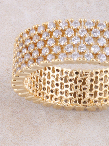 Layered Pave Ring Anarchy Street Gold - Details