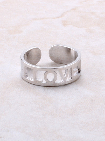 Love Cuff Ring Anarchy Street Silver