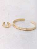 Lucky Cuff Ring And Bracelet Set Anarchy Street Gold