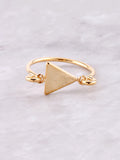 Latched Triangle Ring Anarchy Street Gold