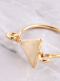 Latched Triangle Ring Anarchy Street Gold - Details