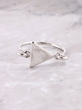 Latched Triangle Ring Anarchy Street Silver